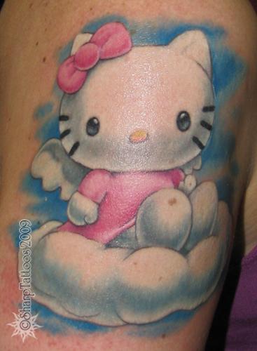 kawaii hello kitty tattoo