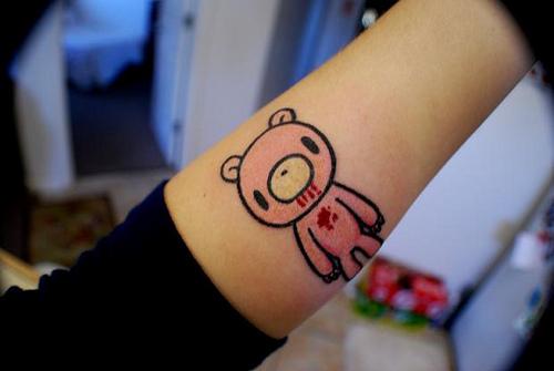kawaii bear tattoo