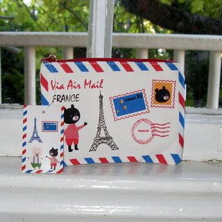French aire mail full bear pouch