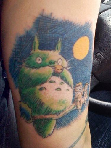 kawaii totoro tattoo