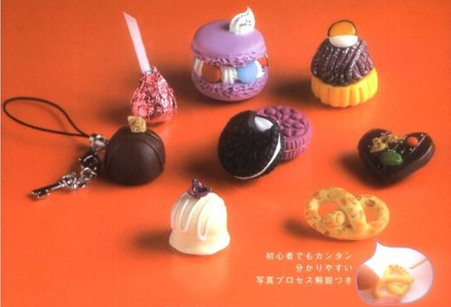 japanese fake sweets charms tutorial decoden DIY book