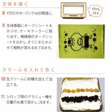 Kawaii roll cake