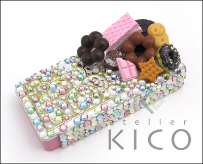Japanese Decoden Artist fake sweets cell phone case