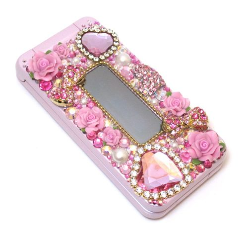 decoden cell phone pink with roses