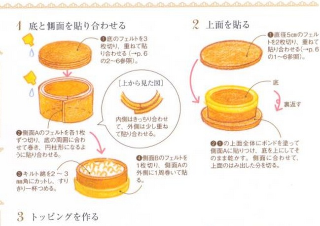 japanese felt cake