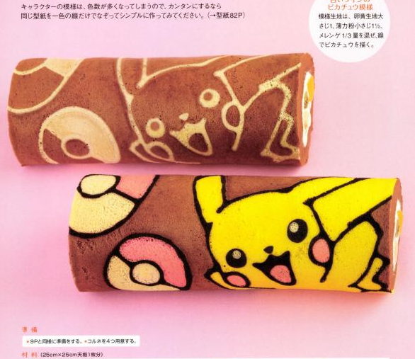 Kawaii roll cake nintendo