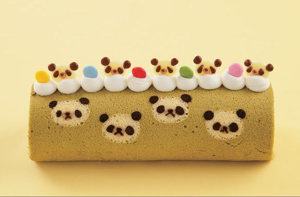 Kawaii roll cake panda bear