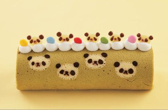 Kawaii Roll Cake Panda Bear
