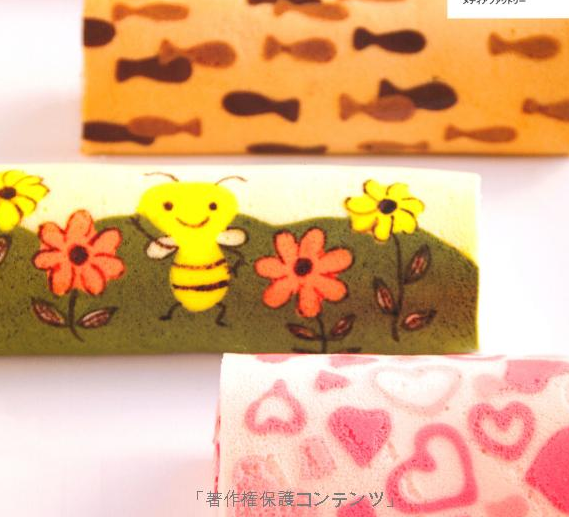 Kawaii roll cake bumble bee cake